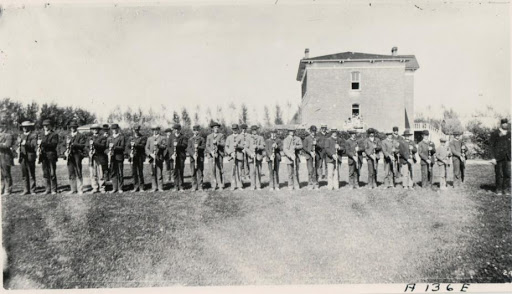 historical black and white photo of cadets